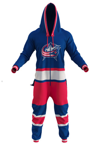 men's columbus blue jackets onesie