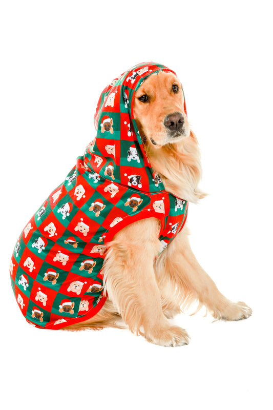 puppies pattern christmas dog onesie