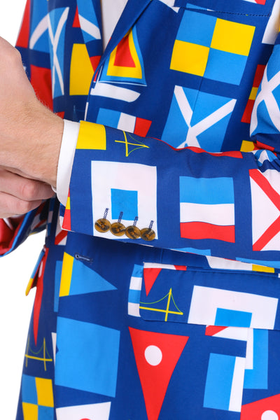 Men's nautical flag blazer