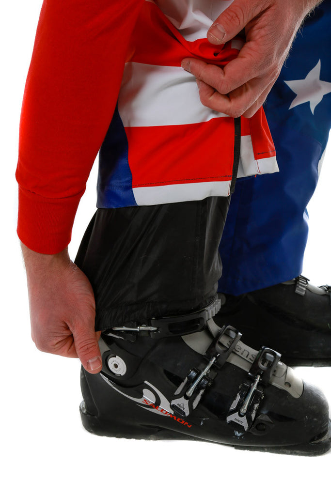 How's Your Aspen American Flag Ski Bibs - Shinesty