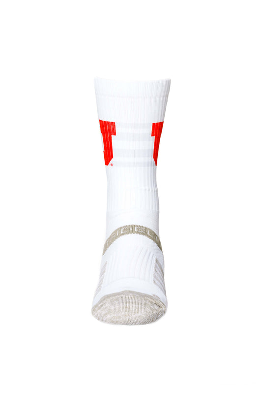 University of Utah Strideline Socks front view