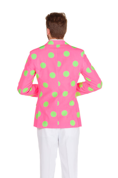 Pink and green derby blazer