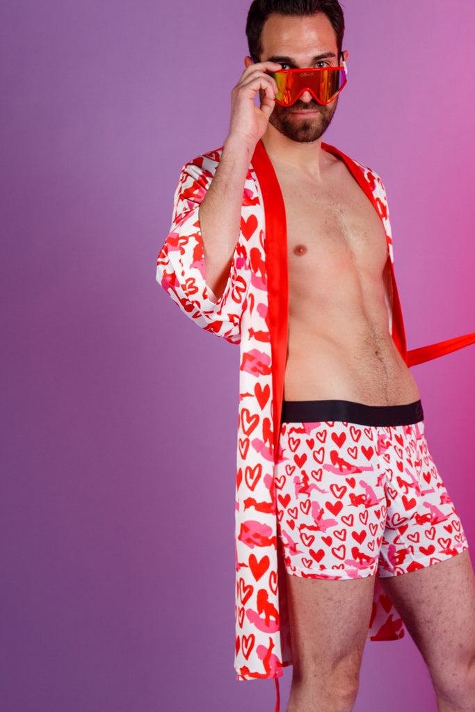 The Mens Kama Sutra Kit | Valentine's Day Party Kimono And Matching Boxer