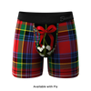 The Kiss Me There | Mistletoe Plaid Christmas Ball Hammock Pouch Underwear