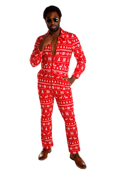 4ca5f9e7bf31 Red   White Holiday Flight Suit