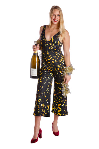 The Perignon Playgirl Gold Confetti Jumpsuit