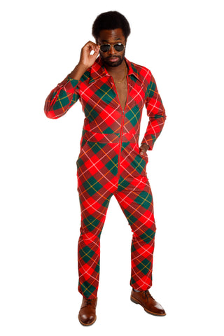 aa47aa0c6 The Bulge Bomber Big Zip | Red & Green Plaid Flight Suit