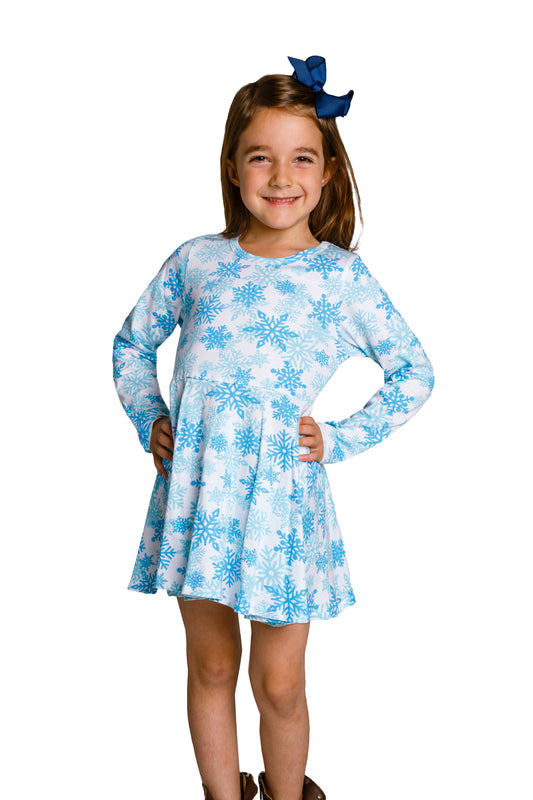 Toddler Christmas Dress.The Millennial Snowflake Snowflakes Toddler Winter Dress