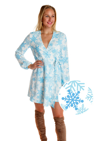 The Millennial Snowflake | White Snowflake Christmas Wrap Dress | Pre-Order | Delivery early November 2018