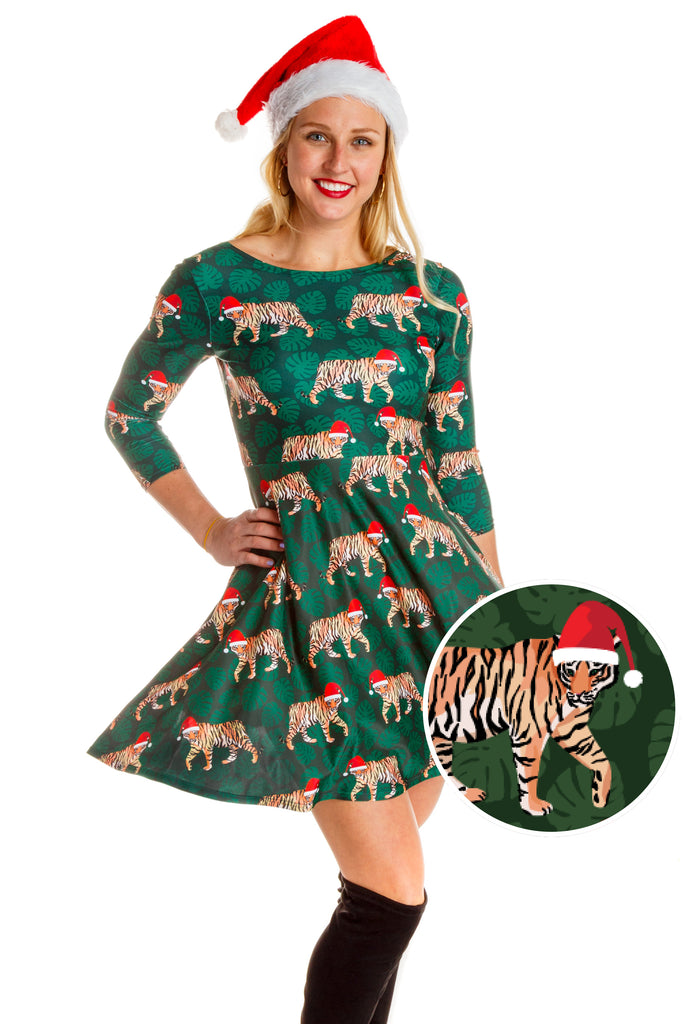 Tinsel The Tiger | Santa Tiger Christmas Dress