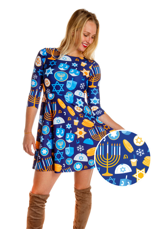 The Shamashing Season | Hanukkah Holiday Dress