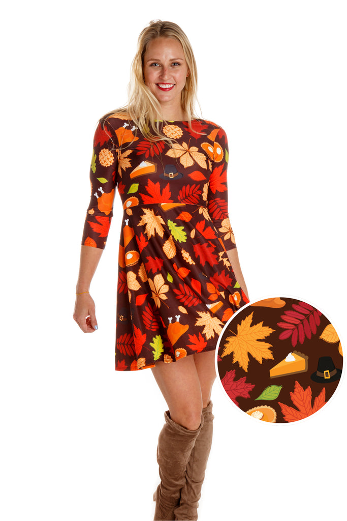 Thanksgiving Is Sexy Thanksgiving Long Sleeve Dress
