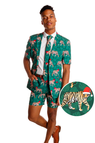 tiger christmas short suit