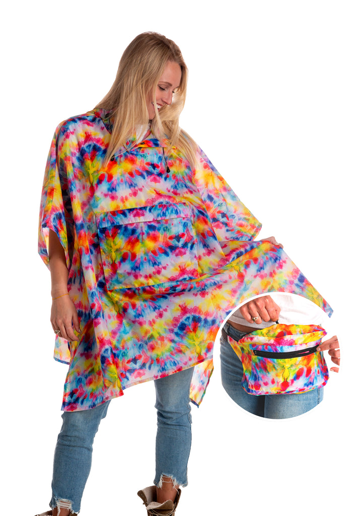 The Wook | Unisex Tie Dye Fanny Pack Rain Jacket