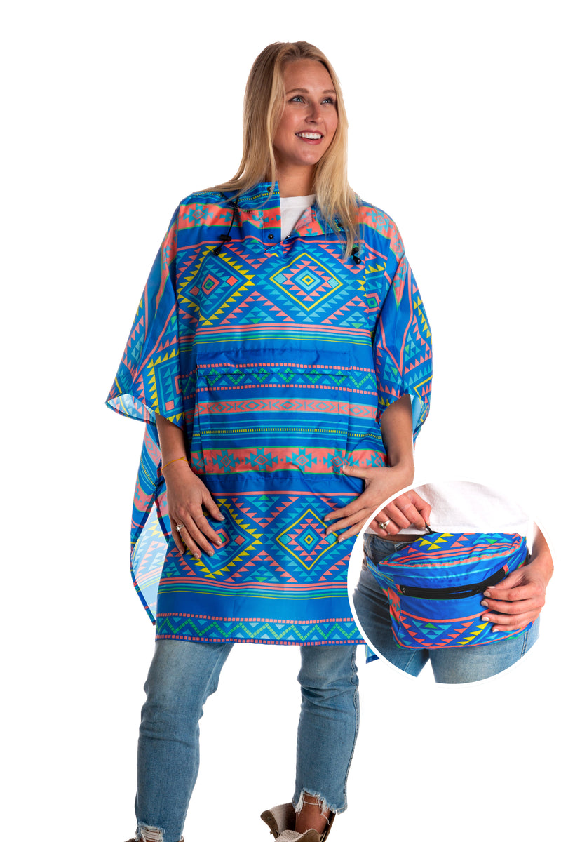 Western Print Fanny Pack Party Poncho