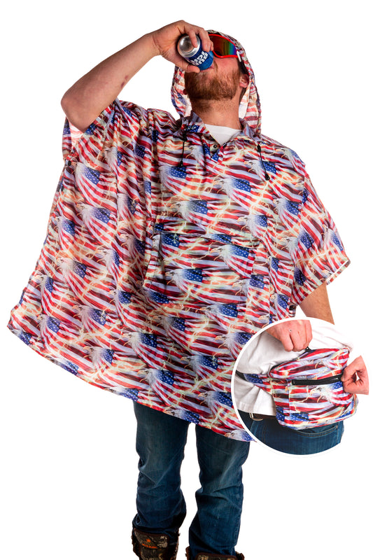 American Thunder Party Poncho Fanny Pack