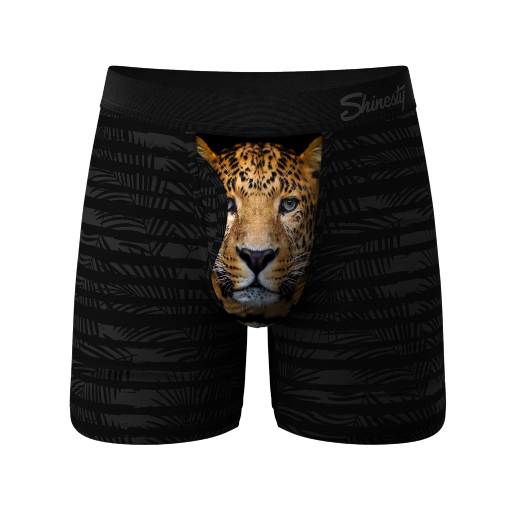 The Leopards Purr | Leopard Ball Hammock Pouch Underwear With Fly