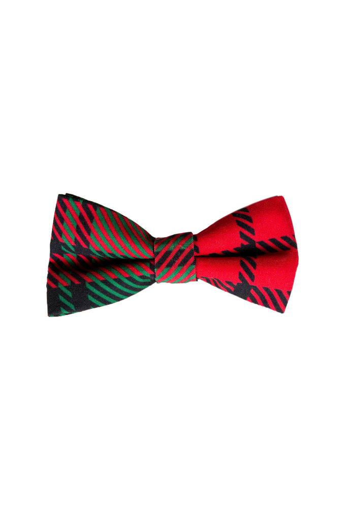 The Lincoln Log Love Daddy | Red And Green Christmas Plaid Bow Tie