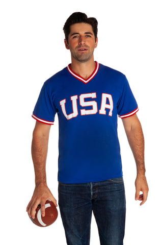 Men's USA blue athletic shirt