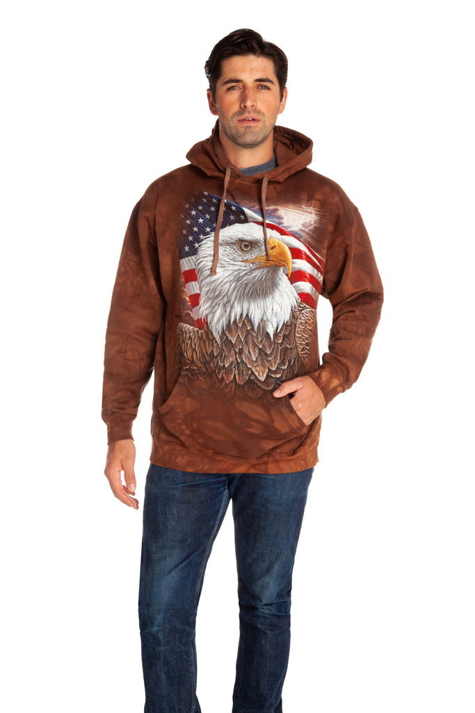 american flag bald eagle sweatshirt