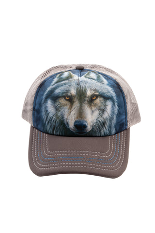 Warrior wolf hat for men