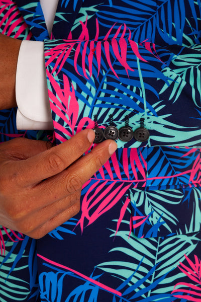 8784641eb2b THE TROPICAL TYCOON NEON PALM TREE SUIT