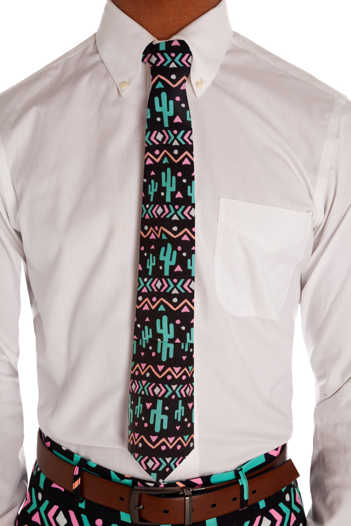 The Neon Cactus Tie | The Sensual Succulent