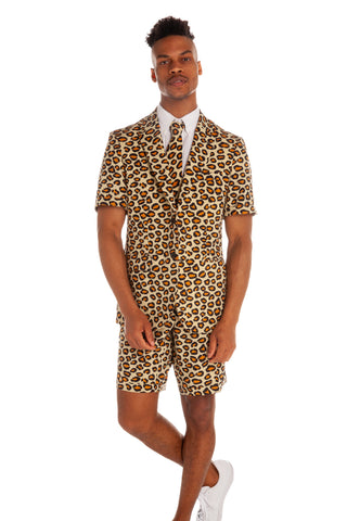 jungle cat summer suit for men