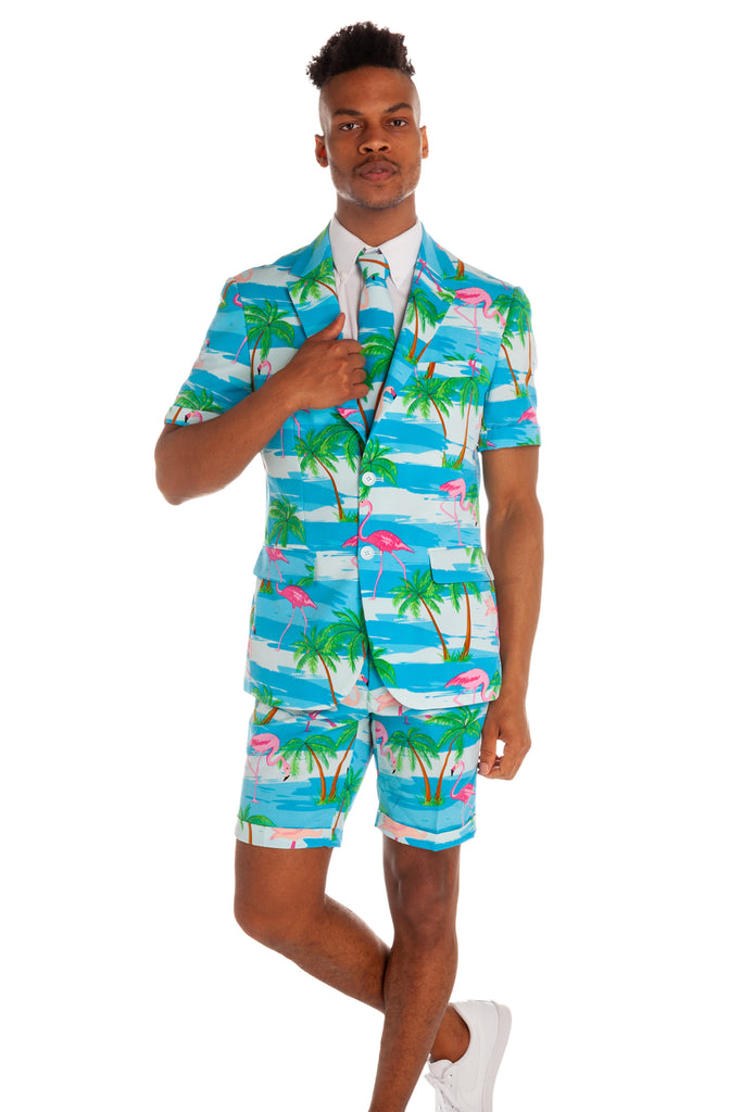 The Grand Cayman Dinghy Flamingo Suit by Opposuits