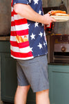 Men's american flag button up