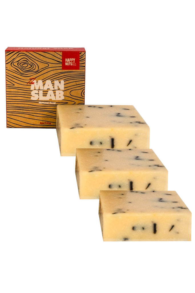 The Man Slab | Happy Nuts Soap Bar 3 Pack