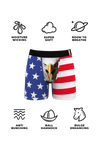 Men's eagle flag ball pouch boxers