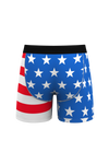 red white and blue flag boxers