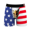 Men's eagle flag ball hammock boxer briefs