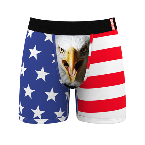 The Mascot American Flag Ball Hammock Boxer Briefs
