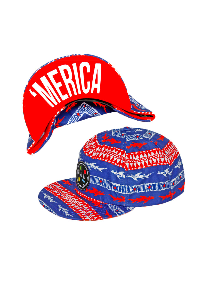 America Fuck Yeah Flip-Up Maui and Sons Snapback Hat 2.0