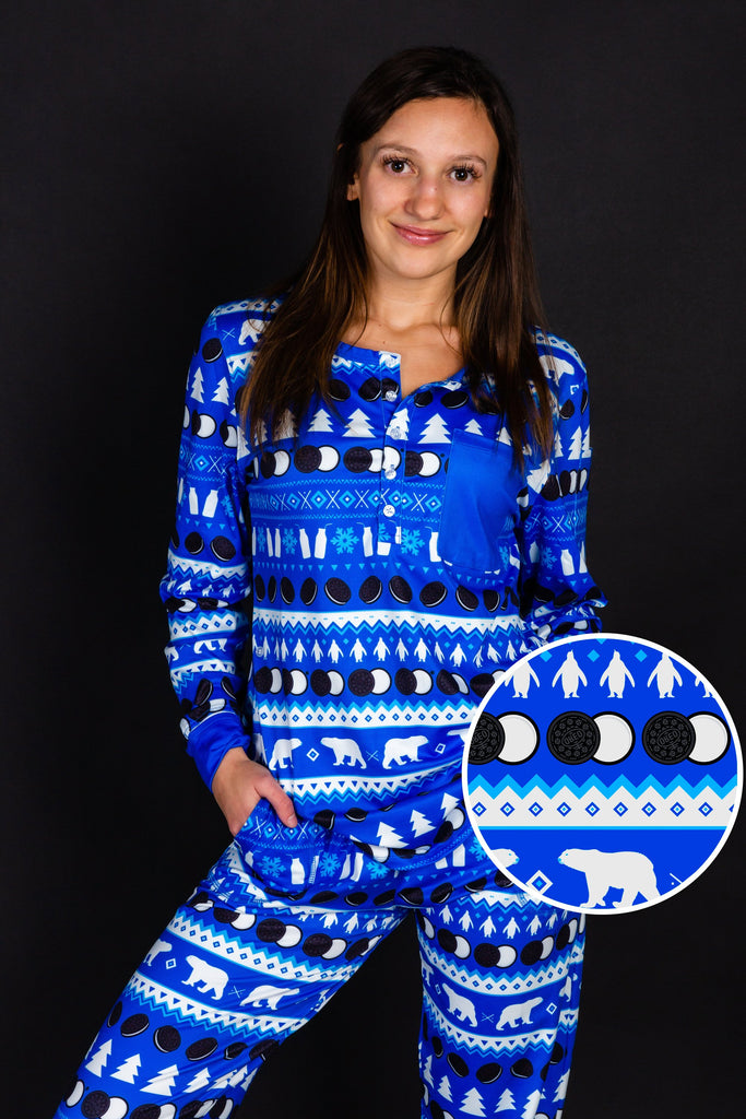 Milks Favorite | Womens OREO Christmas Pajama Top