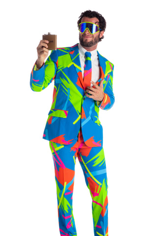 Men's 90's neon party suit