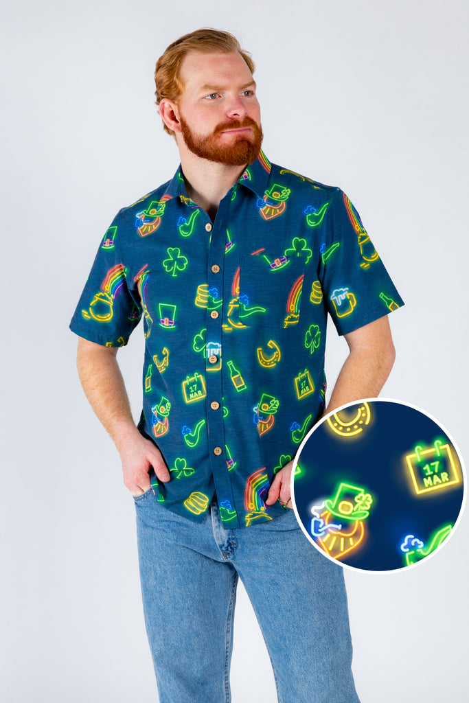 The Feeling Luckys | Navy St. Patrick'S Day Hawaiian Shirt