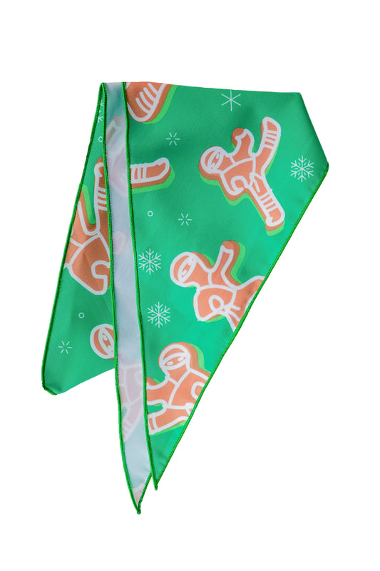 Green gingerbread man bandana
