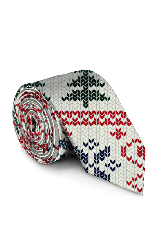 The Offly white christmas holiday tie