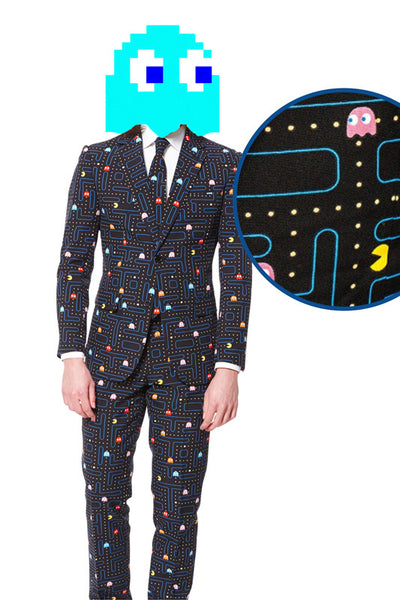 The Pac-Man Waka Waka Print Dress Suit by Opposuits - Shinesty