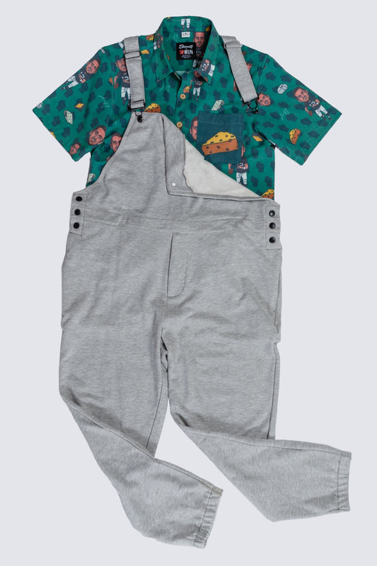 Aaron Rodgers Hawaiian Shirt paired with Grey Pajamaralls