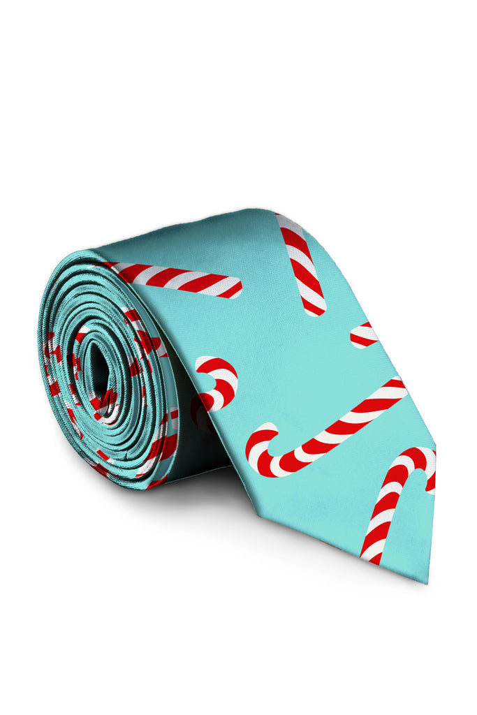 The Peppermint Pimp Canes | Candy Cane Print Tie