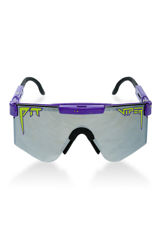 Purple pit viper sunglasses for men