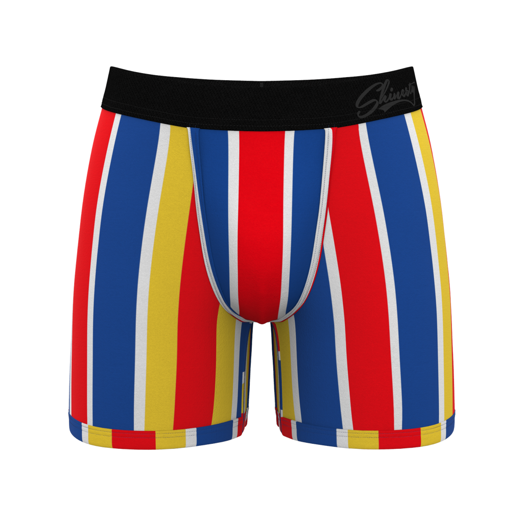 The Eric Formans | Primary Retro Stripes Ball Hammock Pouch Underwear