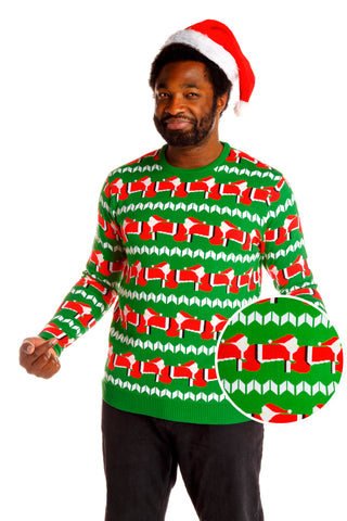 shinesty human santapede mens ugly christmas sweater