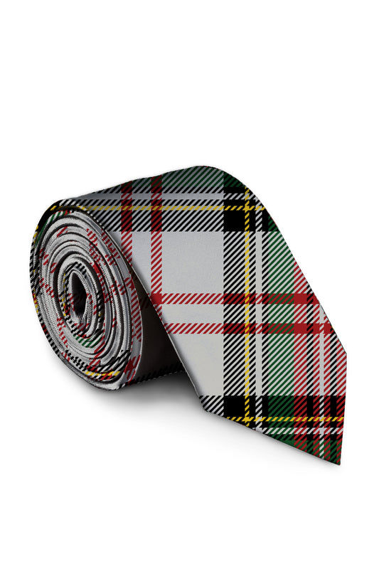 Scotch on the Rocks Christmas Plaid Tie