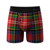 The Scotch On The Rocks | Plaid Ball Hammock Pouch Underwear With Fly