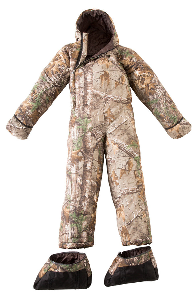 The Hunt-or-be-Hunted Realtree Camo Sleeping Bag Onesie